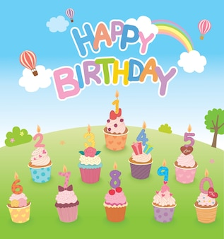 Festa do bolo de aniversário