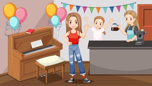 Festa durante quarentena em casa