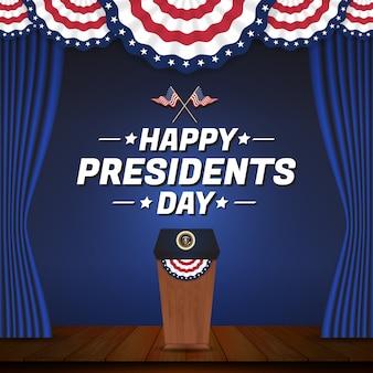 Festa feliz do dia do presidente
