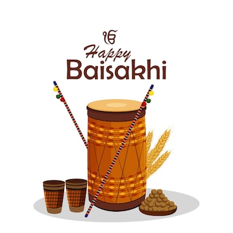 Festa feliz vaisakhi do festival sikh
