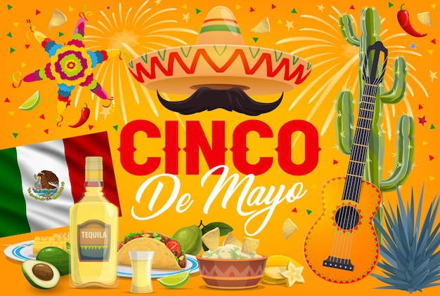 Festa festiva do feriado mexicano do cinco de mayo