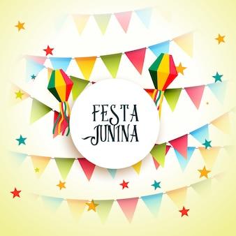 Festa junho festa junina celebration greeting background