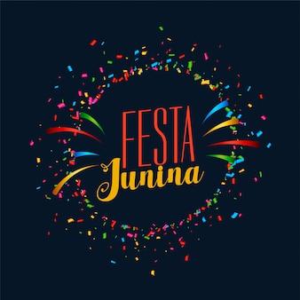 Festa junina cartão de festa de celebração