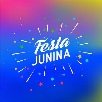 Festa junina celebração colorida
