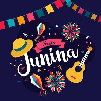 Festa junina celebração conceito