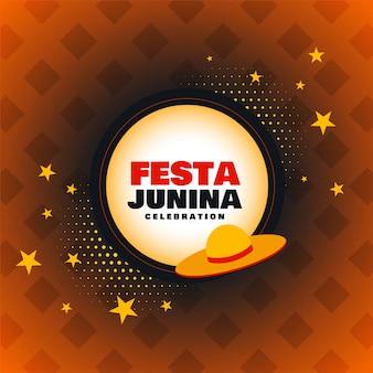 Festa junina celebração deseja fundo do cartão