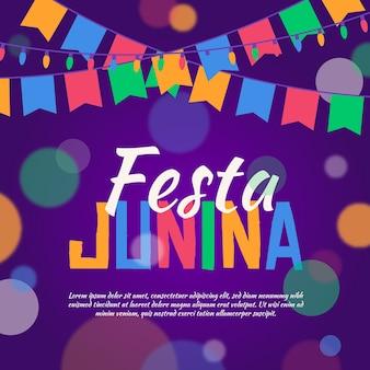 Festa junina celebração dia conceito