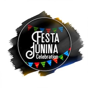 Festa junina celebração fundo aquarela