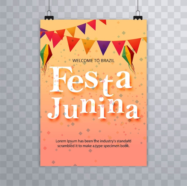 Festa junina colorida folheto