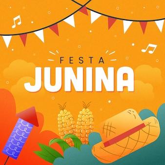 Festa junina desenhados à mão