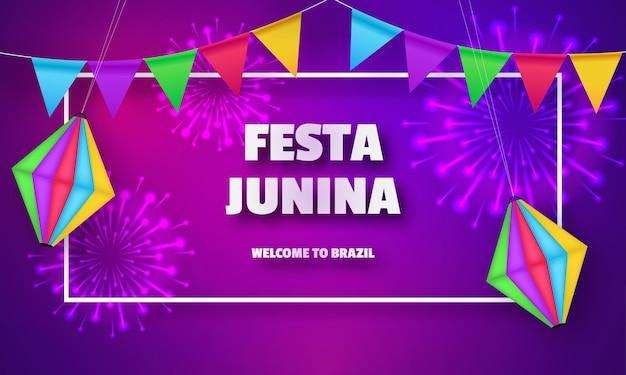 Festa junina design de comemoração