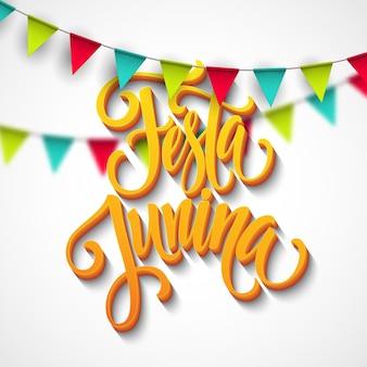 Festa junina design de saudação de festa
