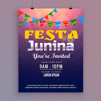 Festa junina design design de convite