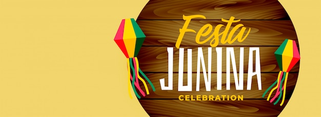 Festa junina design elegante bandeira larga