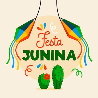 Festa junina design plano