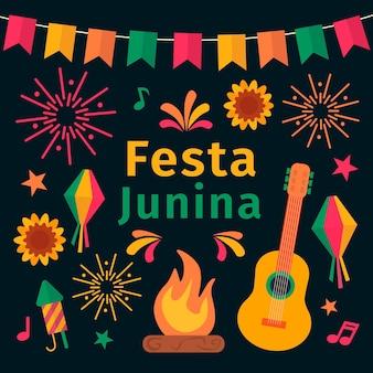 Festa junina evento celebração tema