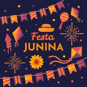 Festa junina evento celebração