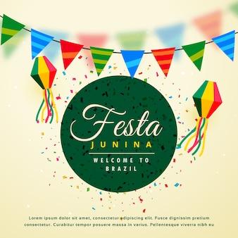 Festa junina feriado fundo do festival brasileiro