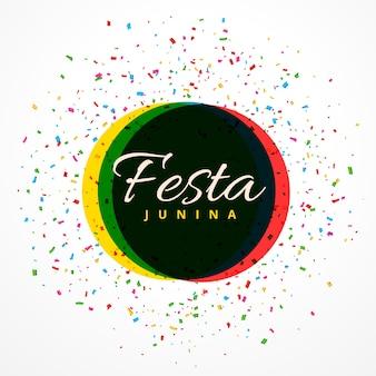 Festa junina festa com fundo com confetes