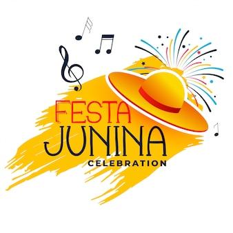 Festa junina música e chapéu