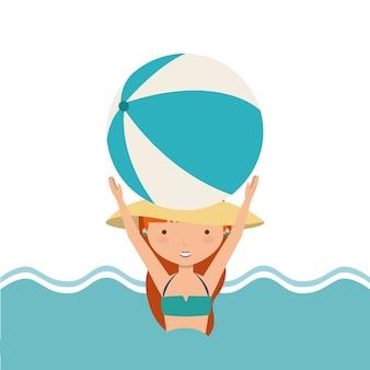 Festa na piscina desfrutar de ícone