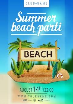 Festa na praia de verão