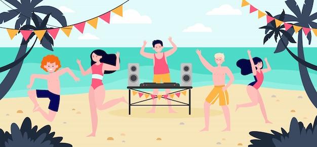 Festa na praia tropical