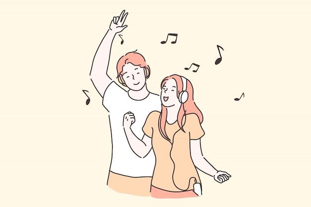 Festa, prazer, conceito de hits favoritos