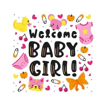 Festa surpresa do chuveiro de bebê para menina