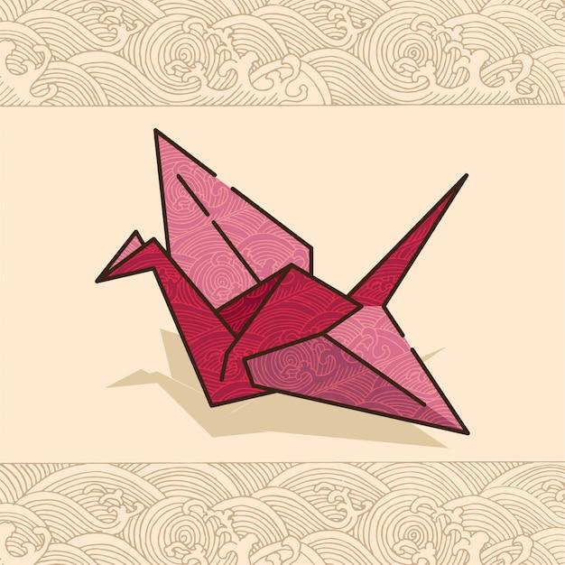Festival cultural japonês pássaro de papel