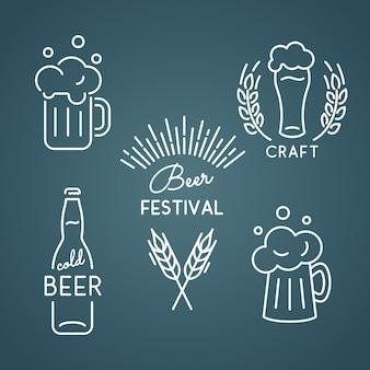 Festival da cerveja. conjunto de ícones.