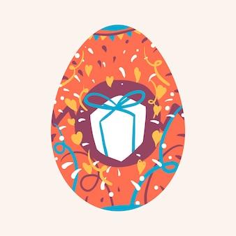 Festival da páscoa ovo pintado vector