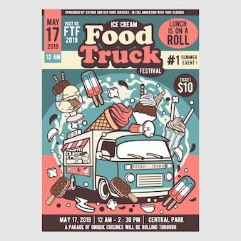 Festival de caminhão de comida de sorvete