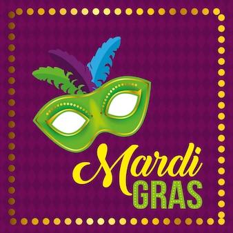 Festival de carnaval com máscara de festa