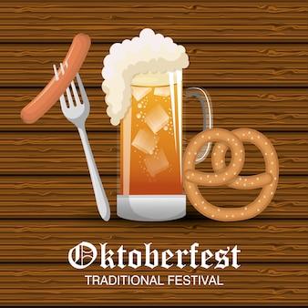 Festival de cerveja oktoberfest isolado