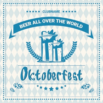 Festival de cerveja oktoberfest poster decoração