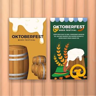 Festival de cerveja oktoberfest publicidade web banner