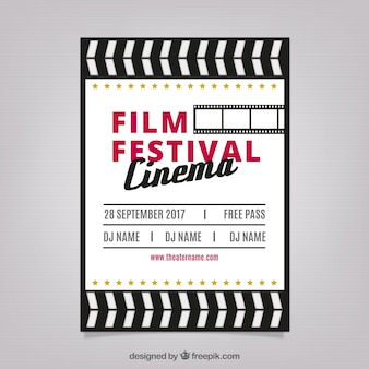 Festival de cinema cartaz em design retro
