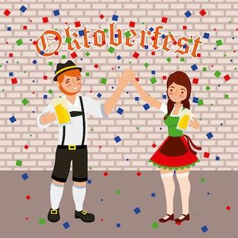 Festival de comemoração da oktoberfest