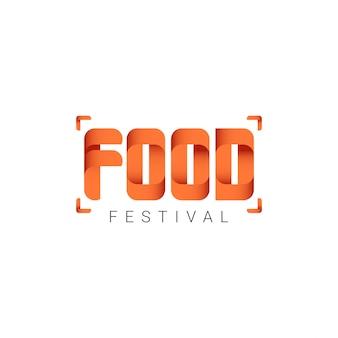 Festival de comida logo vector template design ilustração