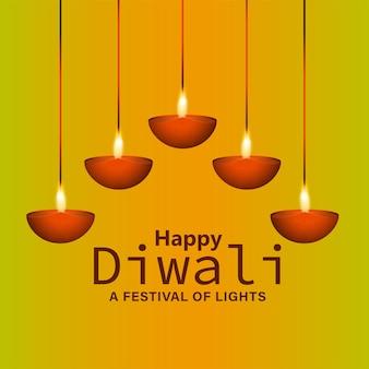 Festival de diwali de fundo de celebração de luz