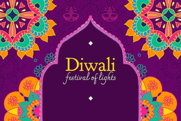 Festival de diwali de vetor de modelo de banner de luzes