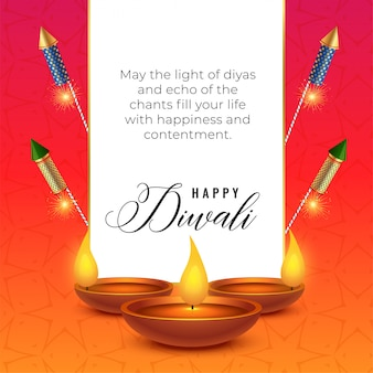 Festival de diwali deseja fundo com diya e bolachas