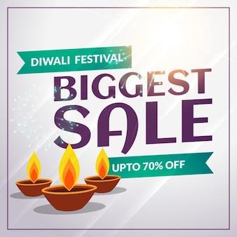 Festival de diwali sazonal desconto e venda banner modelo