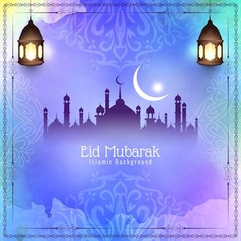 Festival de eid mubarak colorido abstrato