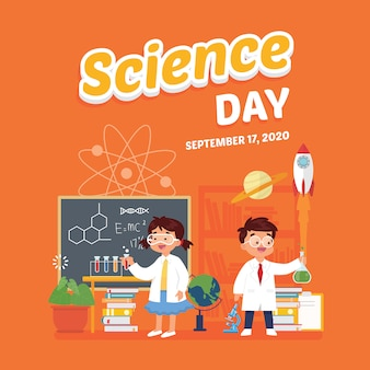 Festival de escola de cartaz de dia de ciência