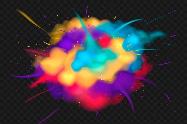 Festival de explosão holi