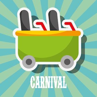 Festival de feira de diversões do carnaval de montanha-russa