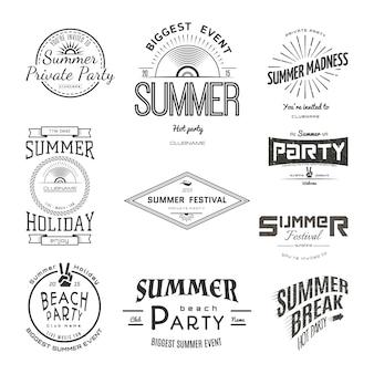 Festival de festa de férias de verão