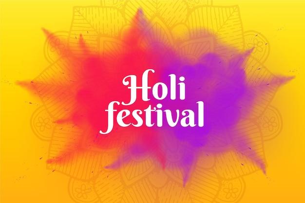 Festival de holi realista